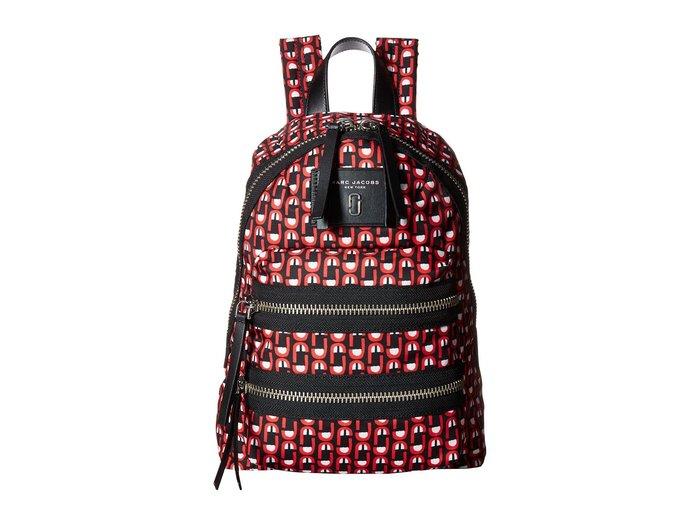 Coco 小舖 MARC JACOBS Logo Scream Mini Biker Backpack 紅色尼龍小後背包