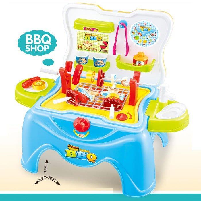 最新款多功能遊戲椅~燒烤爐BBQ烤肉椅~34PCS~收納可當兒童小椅子~超實用~◎童心玩具1館◎