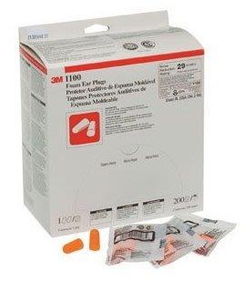 3M 1100 子彈型不帶線防音耳塞 29dB 預防噪音 保護聽力(200入=1盒) [ 好好防護 ]
