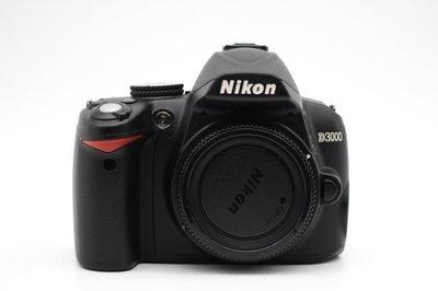 【青蘋果3C競標】Nikon D3000 單機身 1020萬 快門次數66XX APS-C 二手相機#34584