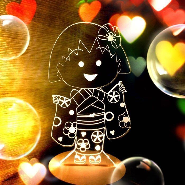 ❤現貨❤陪妳/你入眠情境小夜燈❤櫻桃小丸子成年禮 usb 3D 北歐 LED 小夜燈