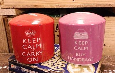 KEEP CALM AND CARRY ON 存錢筒 : 存錢筒 品牌 精品 英國 海報 口號 二戰 復古 工業風 雜貨