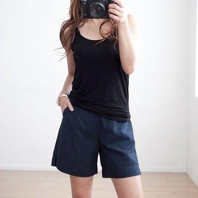 bibi_korea 正韓 好穿後鬆緊口袋亞麻短褲 (4色)【 BH7393 】