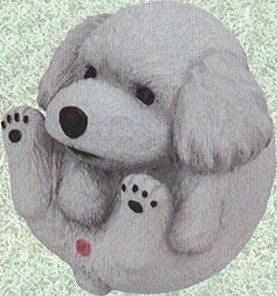 Takara 波波狗 まんまるいぬ人気者編 圓滾滾狗 圓形狗狗擺設 圓圓可愛小狗人氣篇 (白色貴婦狗)