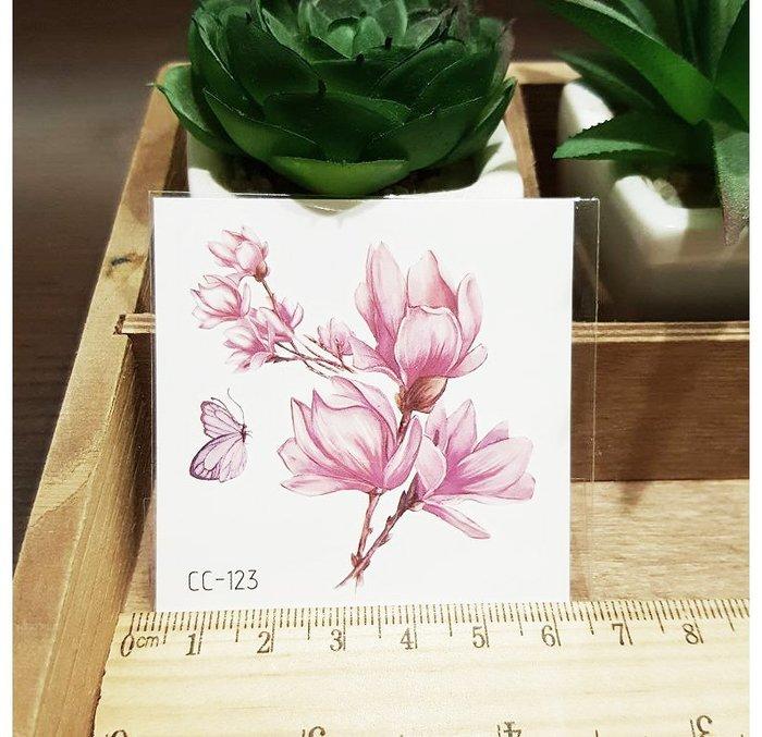【萌古屋】花朵單圖CC-123 - 防水紋身貼紙刺青貼紙K38