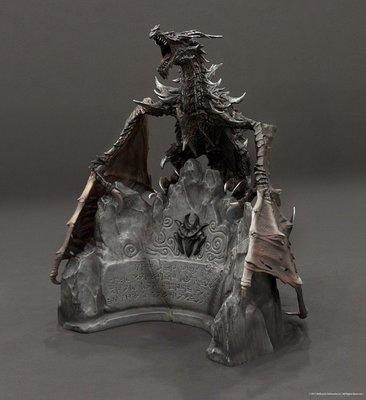 上古卷軸5:無界天際 Elder Scrolls V: Skyrim 黑色巨龍 奧杜因 Alduin 12吋 無外盒