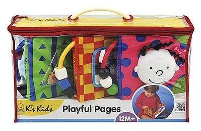 ☆天才老爸☆→美國【K's Kids 奇智奇思】Playful Pages 聰明寶寶感官學習布書