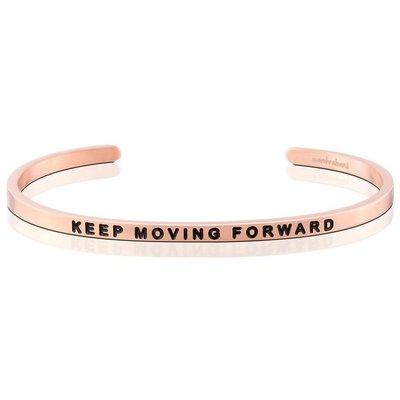 MANTRABAND 台北ShopSmart直營店 Keep Moving Forward 繼續往前邁進 玫瑰金手環