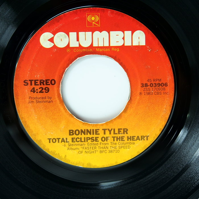 45 rpm 7吋單曲 Bonnie Tyler 【Total Exlipse of the Heart】美國首版