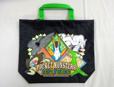 日本製 神奇寶貝  皮卡丘 POKEMON 闇黑焰白酋雷姆 防水手提袋 海灘袋 便當袋 戶外活動 ~限時特價