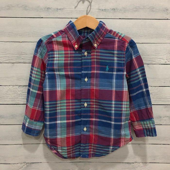 Maple麋鹿小舖 美國購買 童裝品牌POLO RALPH LAUREN 男童格紋長袖襯衫 * ( 現貨2T )