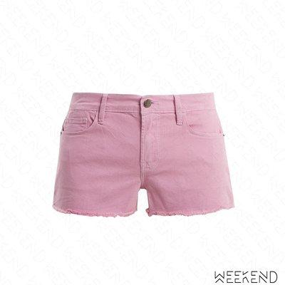 【WEEKEND】 FRAME DENIM Le Cutoff 抽鬚 牛仔 短褲 熱褲 淺紫色