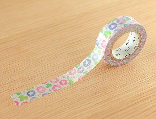 《散步生活雜貨-和紙膠帶》 日本mt ex系列 .牽牛花 紙膠帶 15mm 單捲-MTEX1P150
