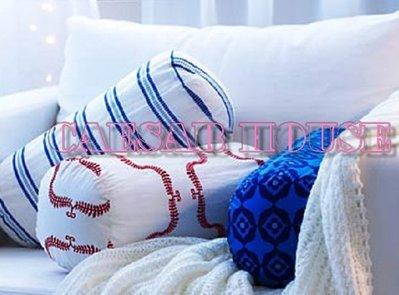 ╭☆凱薩小舖☆╮【IKEA】脖枕/頭部靠枕/抱枕-浪漫紅花(含枕心)~絕版限量~便利生活