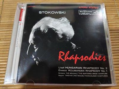 好音悅 TAS發燒天碟 Stokowski 史托考夫斯基 白頭佬 狂想曲 Rhapsodies SONY DSD EU版