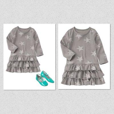 美國童裝Crazy8正品新款Ruffly Star Print Dress星星蛋糕連身裙洋裝18~24m2T售200