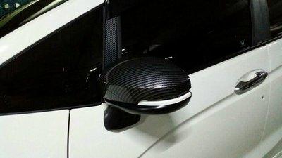 卡夢後照鏡飾板 半包 Honda Fi...