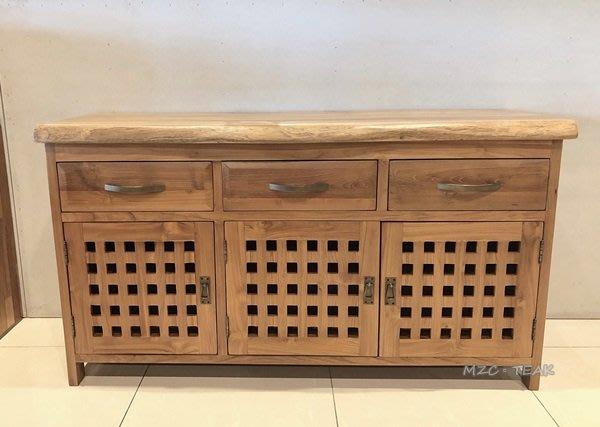 【美日晟柚木家具】原木邊櫃 柚木多功能收納櫃 餐邊櫃 電視櫃 置物櫃 收納櫃 原木