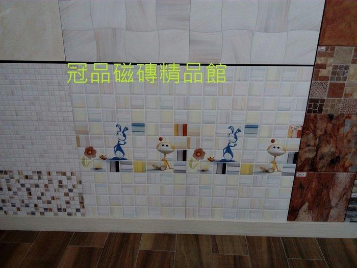 ◎冠品磁磚精品館◎進口精品-數位高亮釉立體壁磚+立體花磚-30X60 CM