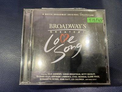 *還有唱片行*BROADWAYS GREATEST LOVE SONG 二手 Y15944