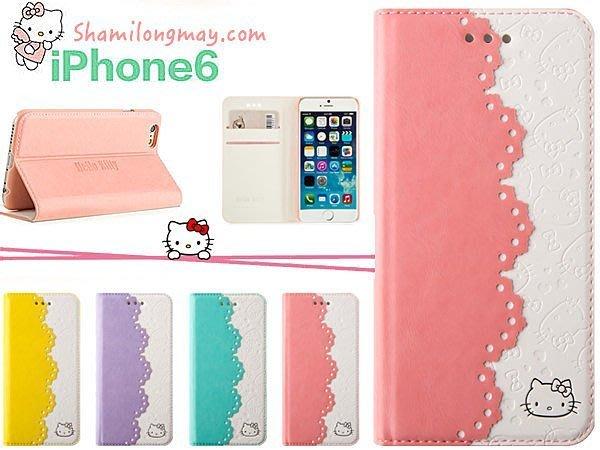 蝦靡龍美【PH454】Hello Kitty iPhone 6 6S i6 Plus 凱蒂貓超薄皮套 手機套 強化玻璃膜