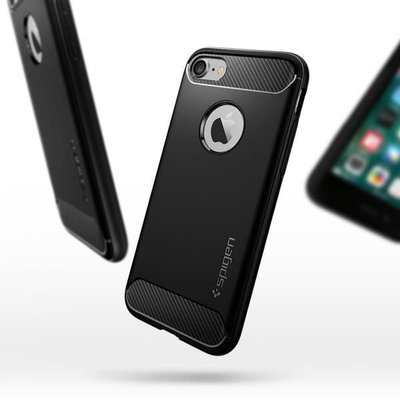 Spigen SGP iPhone Case Rugged Armor四邊防撞 防震 TPU 超輕 防滑手機殼 保護套