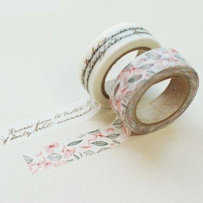 ❅PAVEE❅ 韓國Dailylike~ Masking Tape 優雅和風 裝飾紙膠帶(2入)~ runa