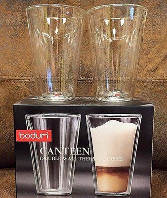 {溫叨車庫} Bodum CANTEEN 13oz 400ml 雙層玻璃杯 拿鐵杯 馬克杯 一組兩入原廠盒裝 免運費