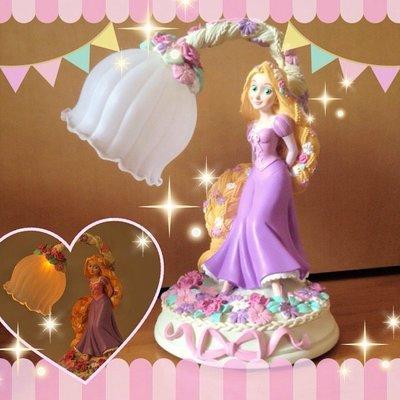 迪士尼魔法奇緣 Tangled 長髮公主 樂佩 小夜燈 台燈 檯燈