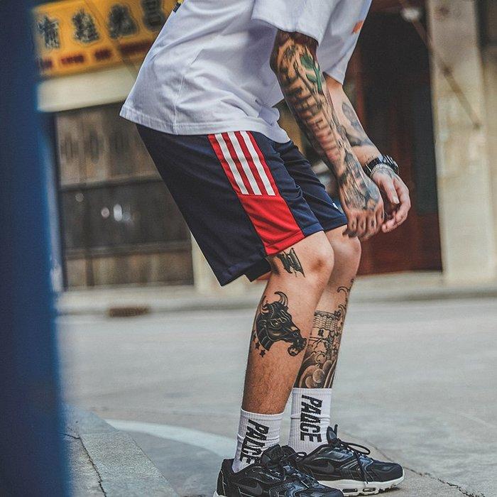 TST- 拚色 復古風 運動褲 球褲 飛鼠褲 膝上褲 短褲 男女款 情侶款 賈斯汀同款