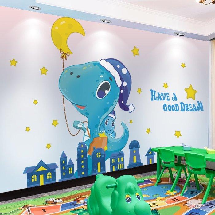 壁紙 壁貼 貼紙 墻壁裝飾 卡通兒童房墻貼紙貼畫嬰兒房創意墻面裝飾品墻壁紙自粘臥室背景墻
