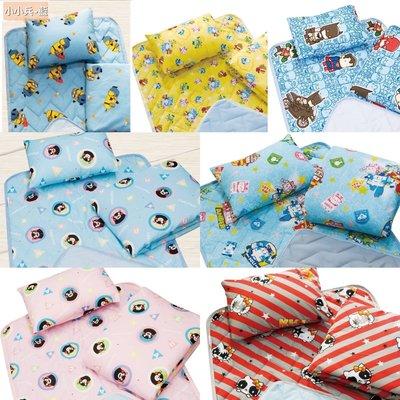 👍台灣製造👍卡通三合一薄床墊涼被組、嬰兒床墊、枕頭、涼被組(三件組)