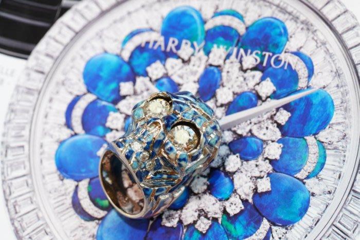 Alexander McQueen Skull Ring 骷髏頭水晶戒 藍