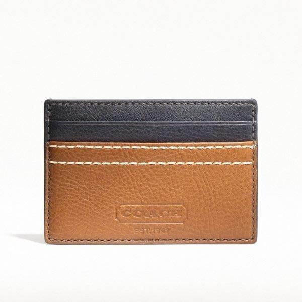 破盤清倉大降價!全新正品 COACH MEN 全皮信用卡夾名片夾,男女均適用,低價起標無底價!本商品免運費!