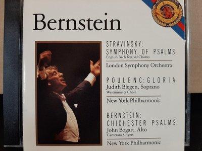 Bernstein,Stravinsky-Sym Of Psalms,Poulenc-Gloria etc伯恩斯坦指揮演繹史塔拉汶斯基-交響聖詠,普朗克-榮耀經