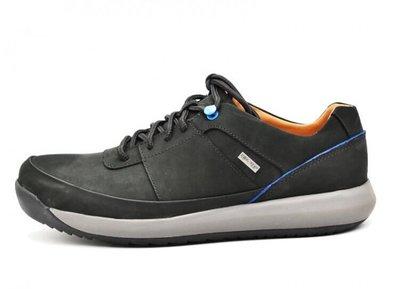 clarks克拉克男鞋GORE-TEX商務休閒防水皮鞋低幫系帶健步男鞋黑色磨砂面39-44