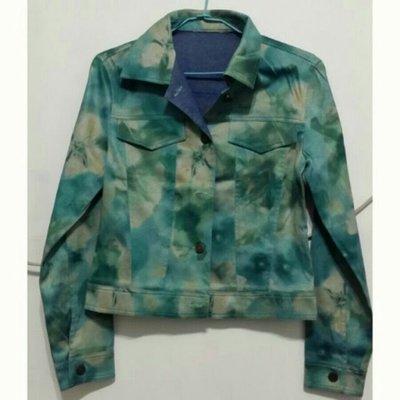 國際知名設計師品牌 Robyn  Hung 洪英妮牛仔迷彩短版上衣外套M號