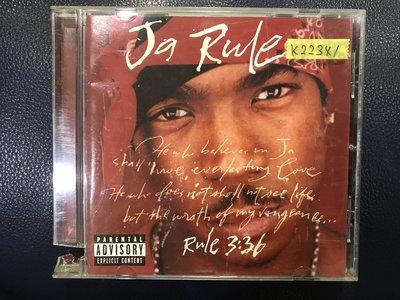 *真音樂*JA RULE / RULE 3:36 二手 K22341 (封面底破)