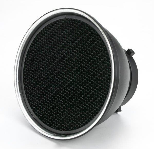 呈現攝影-18cm 蜂巢罩 6x6大孔 標準罩專用 全金屬 可上棚燈 L型傘座+標準罩組可用, 離機閃