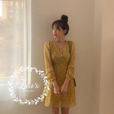【ZEU'S】復古甜美休閒碎花洋裝『 04119805 』【現+預】D