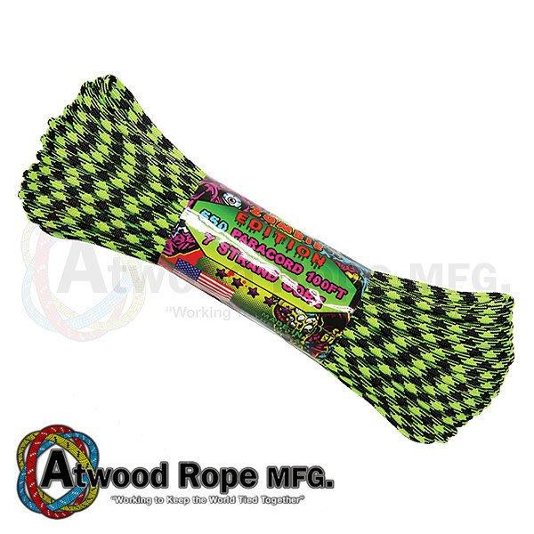 詮國 Atwood Rope 美國專業傘繩 - 綠黑迷彩色傘兵繩 / 100呎 - RG1046H-Outbreak