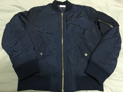 WEGO BROWNY VINTAGE 高密度尼龍 MA1 厚鋪棉外套 藍  size M HARE GU