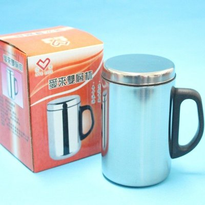 不鏽鋼鋼杯 愛來雙層保溫杯 350ml(盒裝)/一個入(促99) AL45587 辦公杯加杯蓋-秉U29X001