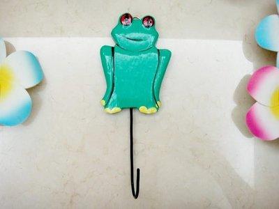 Y【永晴峇里島】巴里島風青蛙造型掛勾,衣架,居家、民宿、飯店都好用-掛勾10@