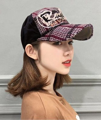 Rullers 韓製針織格紋棒球帽 Q037-2 FLYIN'DEUXE79  帽子專賣店