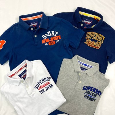 8401 FN5 四色 棒球風 極度乾燥 polo衫 superdry 短袖 小開杈 純棉 男女皆可 印度製