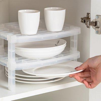【現貨‧免運‧附發票】日本製造SANADA可疊放碗盤收納架(需自行組裝)3入裝 #D5369x3