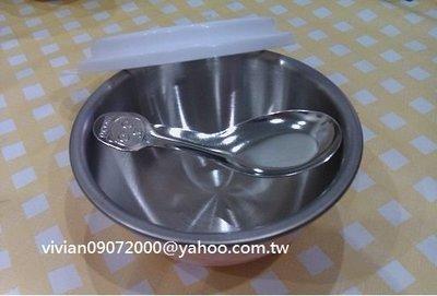 台灣製造-正304不鏽鋼~粉紅單碗組(粉紅碗/白色上蓋/18-8熊貓湯匙)