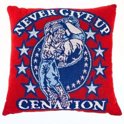 ☆阿Su倉庫☆WWE摔角 John Cena Persevere Triple Woven Jacquard Pillow CENA國度堅持到底抱枕
