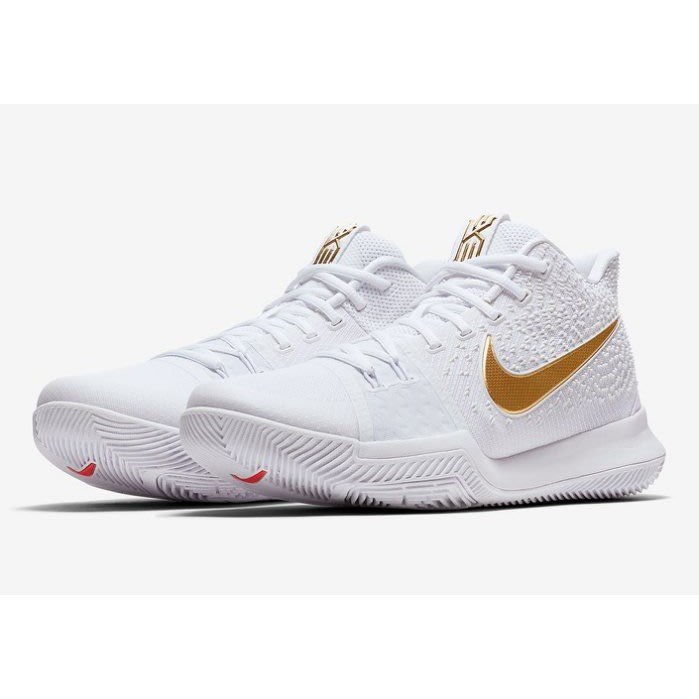 NIKE KYRIE 3 FINALS 金勾 膠底 運動 籃球鞋 852396-902 男鞋 白金色